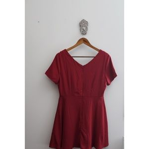 one clothing Dresses - One Clothing Red Fit and Flare Mini Dress! NWT!